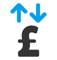 Pound transactions flat icon symbol vector