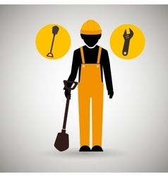 Professional construction design vector
