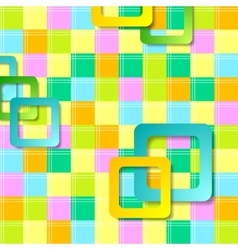 Abstract colorful squares pattern design vector image vector image