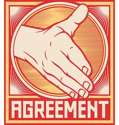 Agreement handshake design vector image
