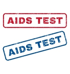 Aids test rubber stamps vector