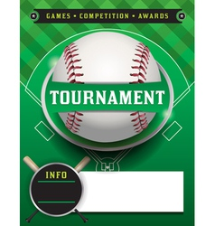 Baseball tournament template vector