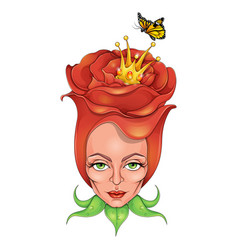Beautiful rose queen vector
