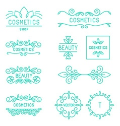 beauty and cosmetics logos vector image vector image