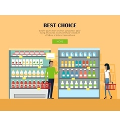 Best choice concept banner in flat design vector