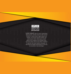 black and yellow geometric background with copy vector image