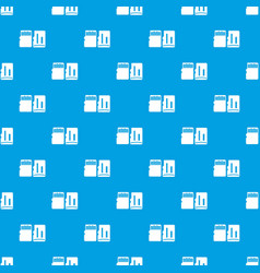 Both sides of sd memory card pattern seamless blue vector