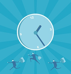 Business man running for time management vector