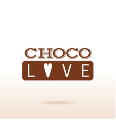 Cacao chocolate logo icon dessert food text vector