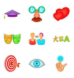 Choice icons set cartoon style vector