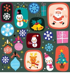 Christmas pattern 2 vector
