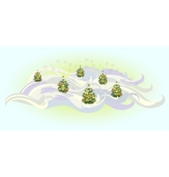 Christmas trees with balls EPS10 vector image vector image