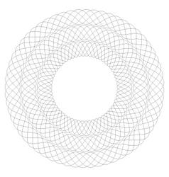 Circular guilloche pattern 3 rows vector