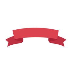 Decoration ribbon banner ornament element vector