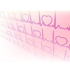 Electrocardiogram waveform from ekg test eps 8 vector