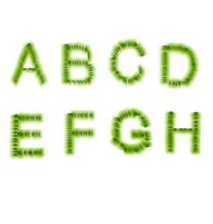 Grass letters a b c d e f g h vector