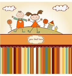happy friends vector image