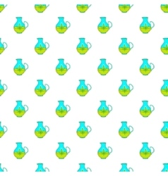 Hemp oil jug pattern cartoon style vector