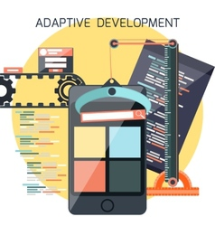 Icons for adaptive development vector