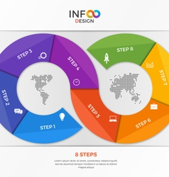 infographic template in the form of the infinity vector image