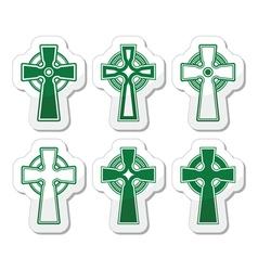 Irish Scottish Celtic cross on white sign vector image vector image