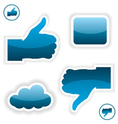 Like and unlike icons vector image