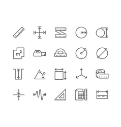 Line measure icons vector