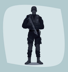 man of specialized tactical team vector image