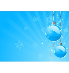 New Years baubles vector image