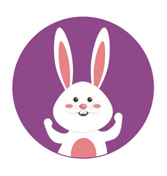 nice happy rabbit cartoon design vector image