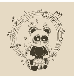 Panda musician vector