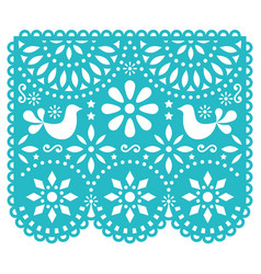 Papel picado template design mexican vector