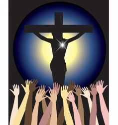 power of jesus christ easter vector image vector image