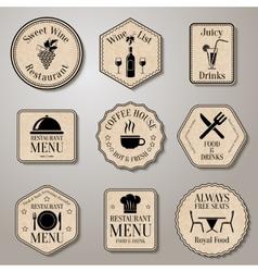 Restaurant menu labels vector image vector image