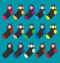 set of colorful socks flat ilustration vector image vector image