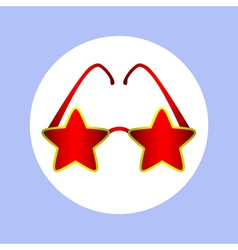 sunglasses stars in circle vector image