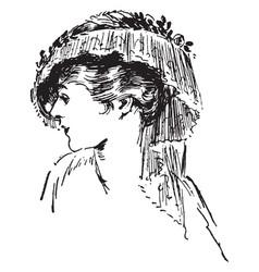 Tassel hat vintage engraving vector