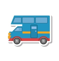 van vehicle transport isolated icon vector image vector image