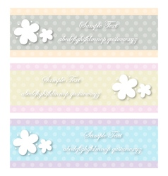 Vintage flower dot vector