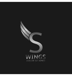 Wings S letter logo vector image vector image