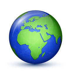 world globe icon vector image vector image