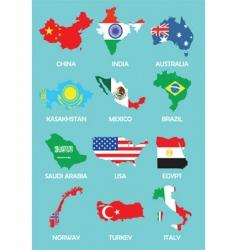 World maps vector