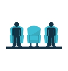 Chair couch style icon vector