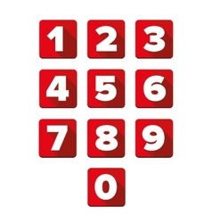 Number set square red vector