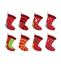 Cartoon cute christmas stocking vector