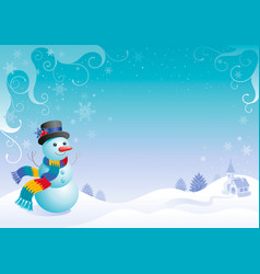 merry christmas and happy new year flayer frame vector image