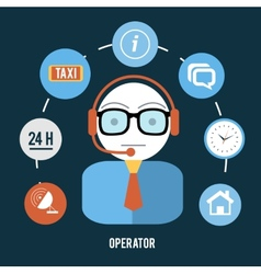 Operator with different item icons vector
