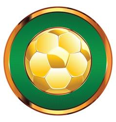 Golden Soccer Ball2 vector image