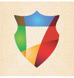 Colorful protection shield design concept vector