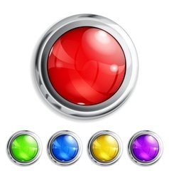 Realistic colored buttons vector